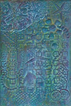 Whimsical Art Nautical Art Mixed Media Painting by PattyEvansArt, $39.00
