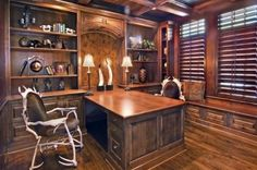 traditional home office by John Kraemer & Sons