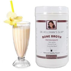 SLIM Bone Broth Protein Isolate, Vanilla