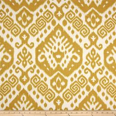 Nate Berkus Safi Blend Maize from @fabricdotcom  From the Nate Berkus Collection, screen printed on a linen/rayon blend, medium/heavyweight fabric and perfect for window treatments, accent pillows and duvet covers. Also perfect for revitalizing an old piece of furniture with a new look, upholster headboards and ottomans or create tote bags, aprons and more. Colors include shades of golden yellow on ivory.