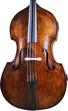 English Double bass circa 1870 att. William Calow