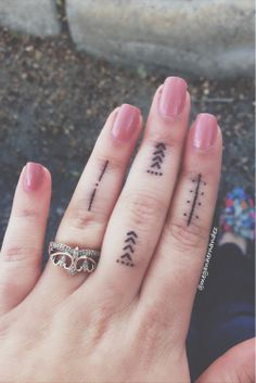 (8) finger tattoos | Tumblr