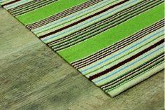 Bunkar Handwoven Traditional Indian Multi Stripe Premium Cotton Rug: Style 'Meadow Bloom': Amazon.co.uk: Kitchen & Home