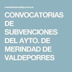 CONVOCATORIAS DE SUBVENCIONES DEL AYTO. DE MERINDAD DE VALDEPORRES