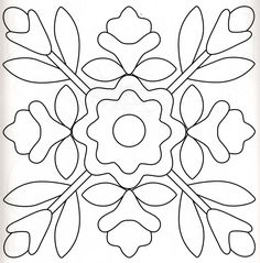 Redwork Embroidery Pattern for Needle Punch, Applique, or Redwork Embroidery Applique Quilt Patterns, Quilting Templates, Applique Templates, Embroidery Applique, Quilting Designs, Block Patterns, Flower Applique, Tile Patterns, Wool Quilts