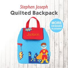 4db821af6c CLOSE OUT Personalized Super Hero Backpack with embroidered name