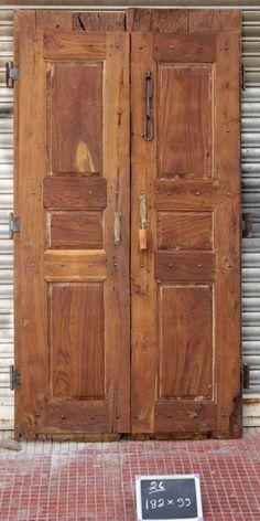 BARMER OLD INDIAN DOORS PAIR Indian Doors, Single Doors, Balinese, Doorway, Hand Carved, Gate, Hardwood, Sweet Home, Shed