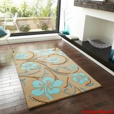 Best Buying Guide And Review Of EL-40 Blue Brown Wool Rug (OC) With Price