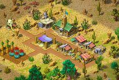 Isometric building desert