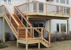 possible deck stairs layout ***Repinned by Normoe, the Backyard Guy (#1 backyardguy on Earth) Follow us on; http://twitter.com/backyardguy