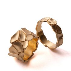 Parched Earth No.2 14K Gold Ring Antique by Doron Merav