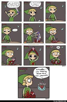 Legend of Zelda Link ce n'est pas le bon coeur ! - Hey! Link! That's the wrong heart!