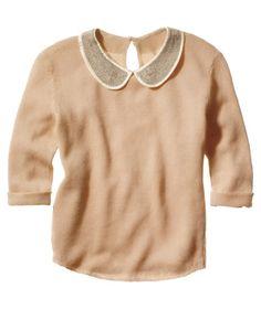Maje Peter Pan Collar Sweater