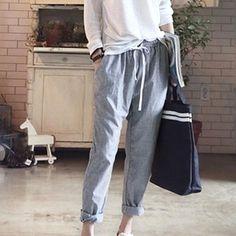 Elastic Waist Trousers Stripe Harem Pants for Women!  harem pants|boho pants|palazzo pants|outfit pants|wide leg pants|flowy pants| high waisted pants|pattern pants|work pants|skinny pants|linen pants|sweat pants| dress pants|cigarette pants|flare pants|ankle pants|cargo pants|jogger pants|yoga pants| loose pants|diy pants|black pants|jeans pants|women pants|2018 pants|2018 womens pants
