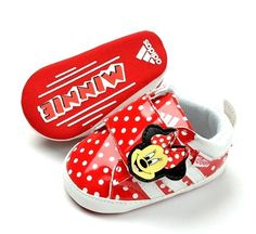 New Adidas Soft Sole Baby Girls Minnie Mouse Sneakers Crib Shoes Age 3 18 Month | eBay