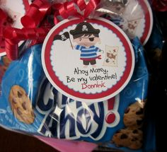 Valentines Day Pirate Tags - Choose Your Favorite Pirate - Boy or Girl. $6.00, via Etsy.