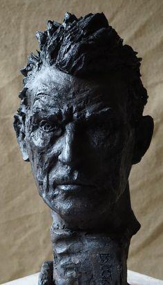 buste de Samuel Beckett par Gérard Lartigue Samuel Beckett, Portfolio, Les Oeuvres, Statue, Blog, Art, Sculptures, Sculpture