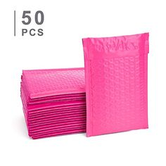 """new 6/""""X 8.5/"""" Anti-Static Pink Bubble Out Bags 250"""