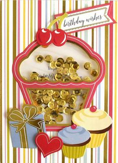 Well Wishes Shaker Card Kit Birthday Wishes, Birthday Cards, Family Poems, Make Your Own Card, Card Making Kits, Anna Griffin Cards, Pocket Cards, Shaker Cards, Card Making Inspiration