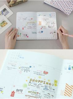 Girl's Mind Love Nature - Undated Planner Sticker Scheduler Organizer Diary Journal Korean