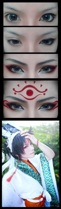 Cosplay Makeup Tutorial : Hakutaku by yuegene