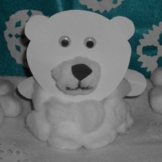 This adorable little polar bear craft can be made with things you have around the house! I don't know why, but I think he is the cutest fat little polar bear! Parents Pay dollar or two, and kids make a polar bear craft Craft Projects For Kids, Paper Crafts For Kids, Arts And Crafts Projects, Craft Ideas, Paper Crafting, Bear Crafts, Animal Crafts, Toddler Crafts, Preschool Crafts
