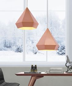 This light is a hanging toast to geometric elegance. The Forecast Ceiling Lamp is a lovely pendant with sharp angles and soft warmth. Comes in chrome, rose or gold. Product Description • Product Dimen