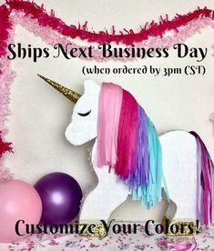 Piñata de unicornio | Piñata de unicornio personalizables | Unicornio fotos Prop | Cumpleaños de unicornio | Regalo de unicornio