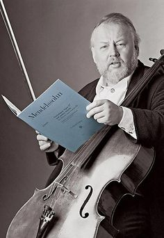 """Heinrich Schiff  b 1951 is an Austrian cellist and conductor. He studied cello with Tobias Kühne and André Navarra making his solo debut in Vienna and London in 1971. He made his conducting debut in 1986. He has a busy career both as soloist and conductor, and has recorded extensively- receiving several awards.  Schiff plays the """"Mara"""" Stradivarius (1711) and """"Sleeping Beauty"""" made by Montagnana in Venice in 1739"""
