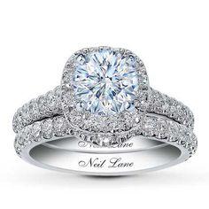 0.41 Carat H-I1 Very Good Cut Round Diamond plus Neil Lane Bridal Setting 1 ct tw Diamonds 14K White Gold for $4,049.99
