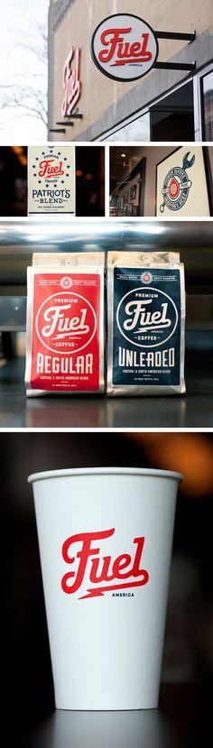 Fuel coffee branding