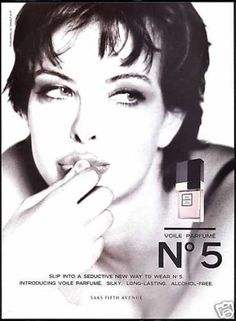 Chanel advertising presents the brand as a classic in any era in this 1990s advertisement. This fragrance was introduced in the late 1910s and popularized in the 1920s and 1930s as a mainstay of the Chanel brand. Click through image for more perspective on Chanel.