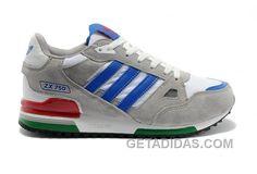 reputable site 13f78 3c9ba Adidas Zx750 Women Grey White Blue Top Deals, Price   104.00 - Adidas Shoes, Adidas Nmd,Superstar,Originals
