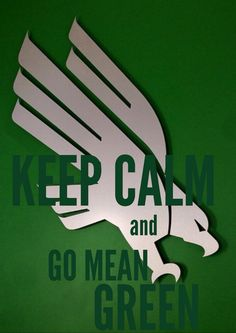 University of North Texas Mean Green Eagles. GO MEAN GREEN!