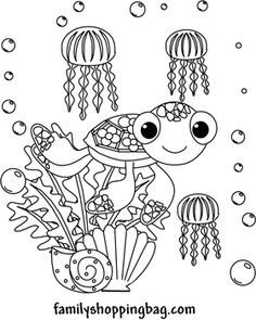 Finding Nemo & Dory Coloring Pages and Invitaitons Finding Nemo Coloring Pages, Colouring Pages, Coloring Books, Free Printable Stationery, Summer Activities For Kids, Children Activities, Sketch Painting, Digi Stamps, Painting For Kids