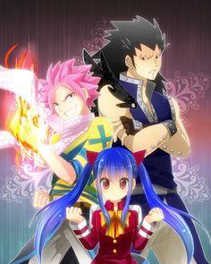 Natsu,Gajeel and Wendy