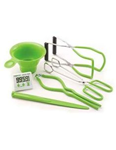 Presto Kitchen Accessory Kit - Digital Timer Canning Funnel Combination Bubble Remover/Lid Lifter Jar Lifter Jar Wrench and Kitchen Tongs. - NEW - Retail - 09995 Canning Supplies, Home Canning, Canning Jars, Canning Recipes, Mason Jars, Canning Pickles, Hip Pressure Cooking, Electric Pressure Cooker, Herbs