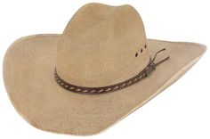 Milano Hats Lawton Copper Toned Palm Leaf Cowboy Hat  066df723775b