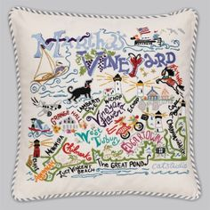 Martha's Vineyard pillow -- I don't really know what/where Martha's Vineyard is, but I feel like I'd want to live there too.