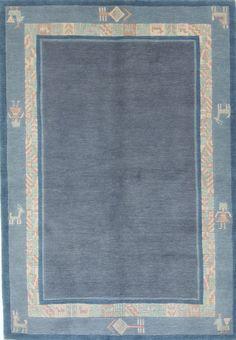 Nepal Teppich 100% Wolle  Handgeknüpft 177 x 123 cm Rugs orient preproga