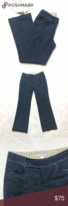 """REBECCA TAYLOR Blue Tweed Wool Bootcut Pants REBECCA TAYLOR Blue Tweed Wool Bootcut Pants in size 4. Waist measures 30"""", front rise is 8.5"""", inseam is 30"""", leg opening is 19"""". Polyester/wool/Lycra. 2 Rebecca Taylor Pants Boot Cut & Flare"""