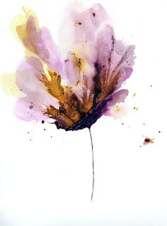"""""""Flower Painting Original Wall Art 18 x 24 Floral Purple"""" - Acrylic On Cotton Ragg Paper, in Floral and Flower Paintings by Catherine Jeltes. $225.00 original art painting."""