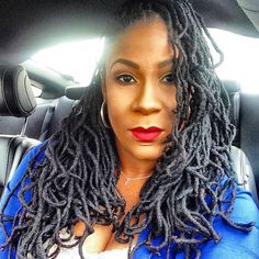 """Lovelylocs Natural Hair Care on Instagram: """"Hey babes w/ @missrii #redlips #locs #dreads #naturalhair #lvlylcs"""""""