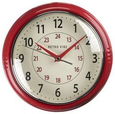 I Love This Red clock plus it has military time!!!!