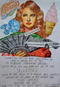 Lana Del Rey #LDR #Salvatore #art by Stephanie Gunnz