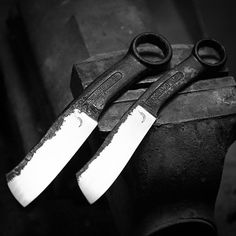 Very old wrenches reforged into knives :)