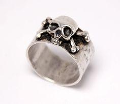Dust N' ' ossa 100% argento anello Set di 3 anelli di AngelJK