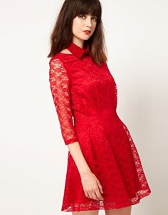 Enlarge Nishe Lace Dress With Collar  - I want this badly.