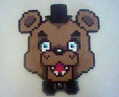 Five Nights at Freddy's Freddy Fazbear Perler Bead by 8bitBalliet Fnaf hama bead