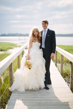 Personalized coastal wedding with pops of color. Captured By: Paige Winn #weddingchicks http://www.weddingchicks.com/2014/08/06/who-to-spend-your-wedding-with/